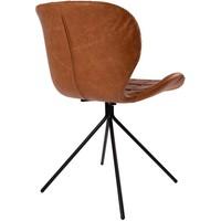OMG leatherlook eetkamerstoel van Zuiver (set van 2) - bruin/cognac
