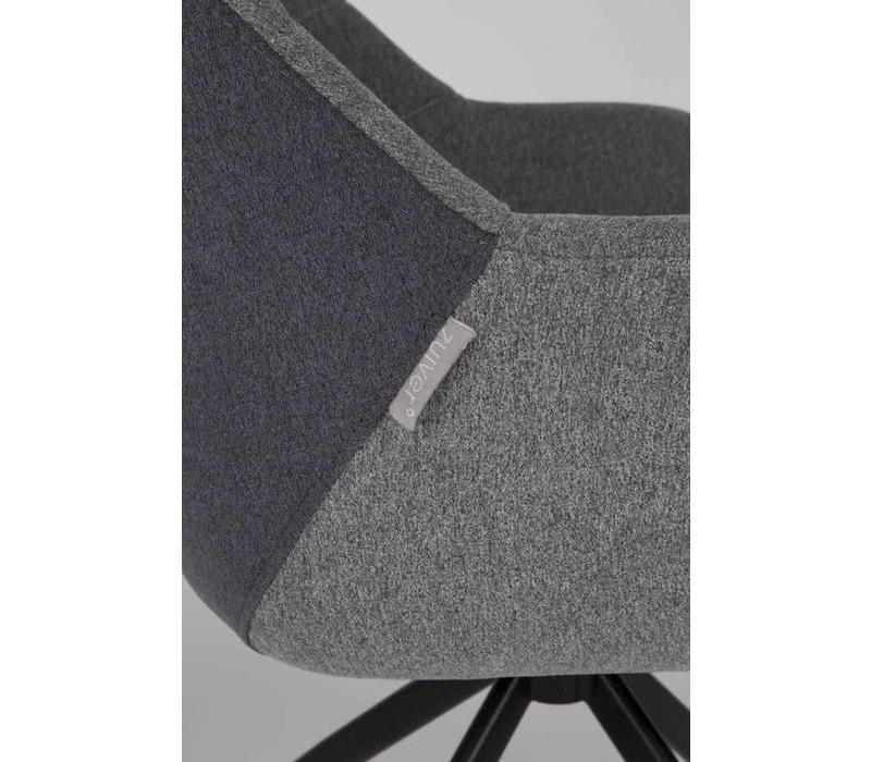 Zuiver Doulton stoel (set van 2) - grijs/grijs