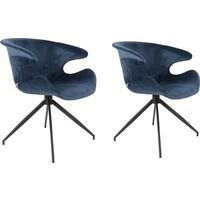 Zuiver Mia stoel (set van 2) - blauw