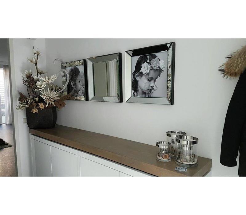 Spiegel met spiegelrand 50x50 cm