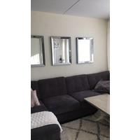 Spiegel met spiegelrand - zilver 60x80 cm