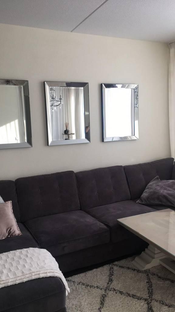 New Spiegellijsten ZILVER met spiegel (50x60 cm)   Spiegellijst als &KF58