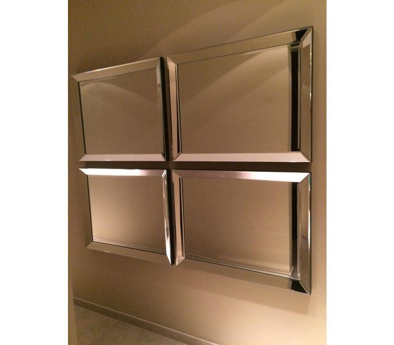 Spiegellijst met spiegel - zilver 70x90 cm
