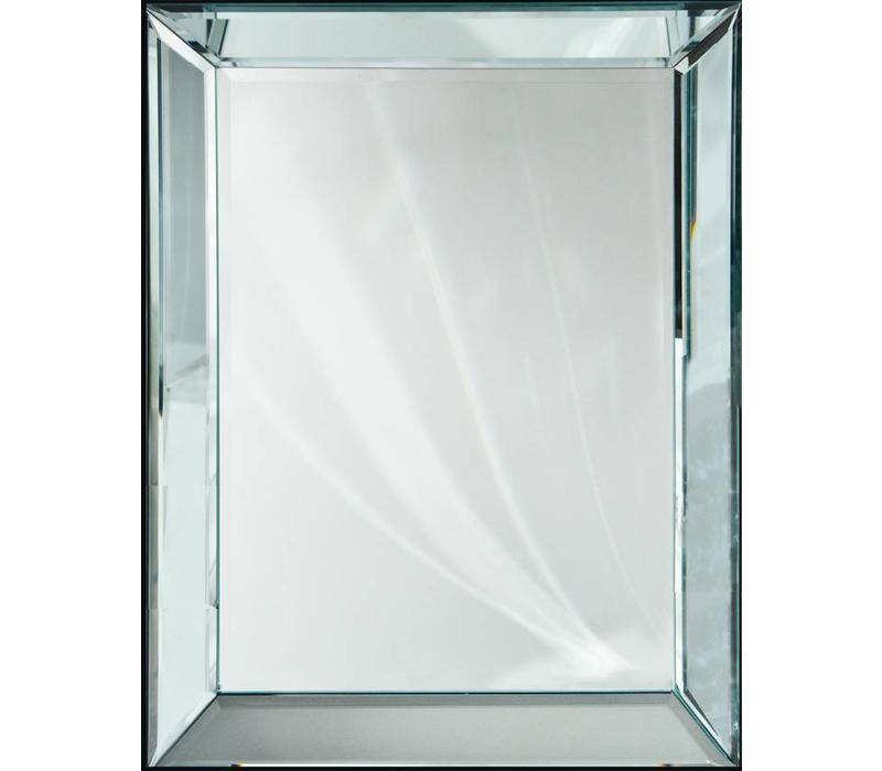 Spiegel met spiegelrand - zilver 80x110