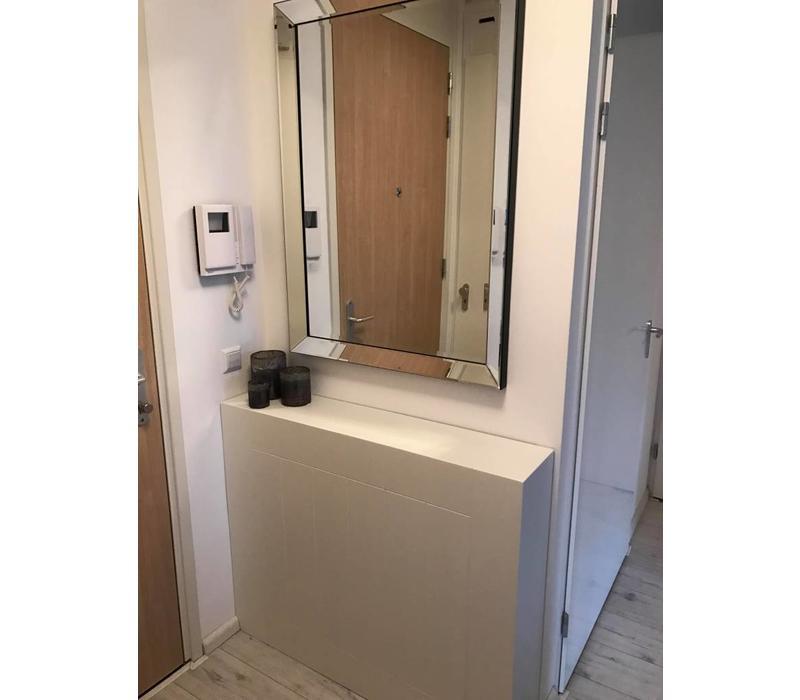 Spiegellijst met spiegel - zilver 80x110