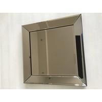 Spiegel met spiegelrand - brons 50x50 cm