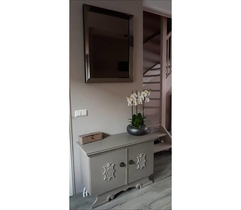 Spiegel met spiegelrand - brons 70x90 cm