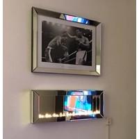 Sfeerhaard spiegel voor waxinelichtjes
