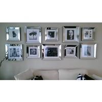 Fotolijst met spiegelrand - zilver 50x50