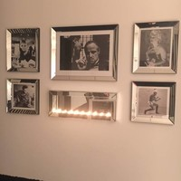 Fotolijst met spiegelrand - zilver 50x60