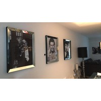 Fotolijst met spiegelrand - zilver 70x90