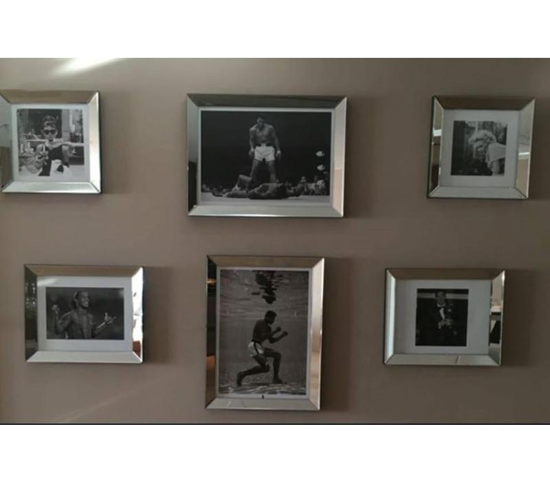 Fotolijst met spiegelrand - zilver 60x80