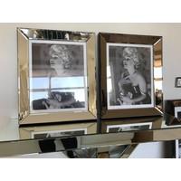 Fotolijst met spiegelrand - brons 50x60
