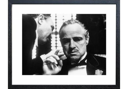 Fotolijst zwart frame - The Godfather Whispering
