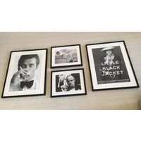 Fotolijst zwart frame - The Godfather Whispering