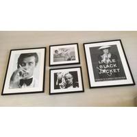 Fotolijst zwart frame - Audrey Hepburn met zonnebril