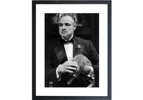 Fotolijst zwart frame - The Godfather The Cat