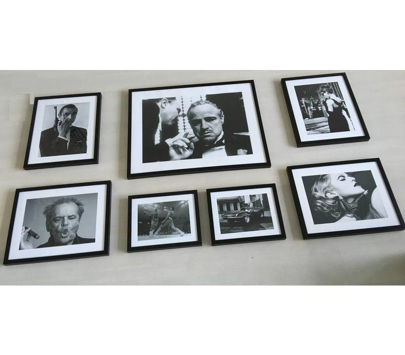 Fotolijst zwart frame - Jack Nicholson met sigaar