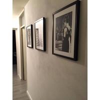 Fotolijst zwart frame - Marilyn Monroe liggend