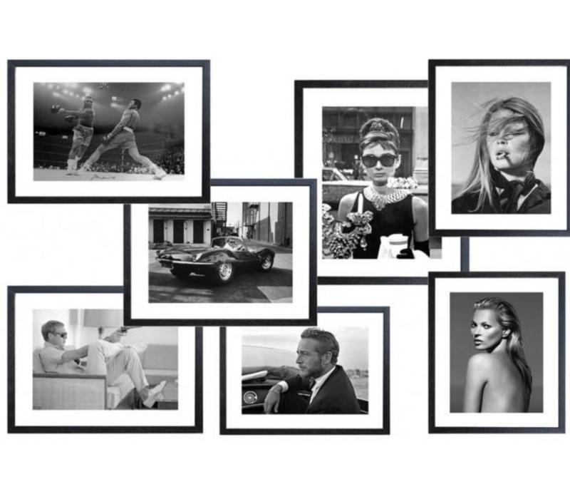 Fotolijst zwart frame - Muhammad Ali in de boxring