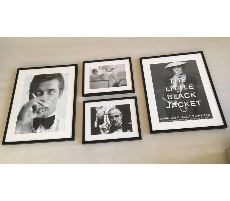 Fotolijst zwart frame -Steve McQueen met pistool