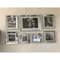 Voordeelset spiegellijsten - 7 fotolijsten zilver