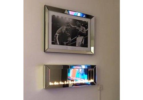 Sfeerhaard met spiegellijst fotolijst - zilver