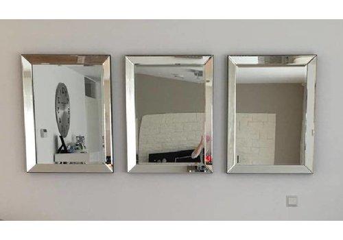 Set van 3 - Spiegels met spiegelrand 60x80 cm