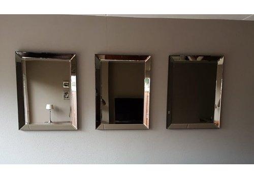 Set van 3 - Spiegels met spiegelrand 60x80 cm - brons - Eric Kuster stijl