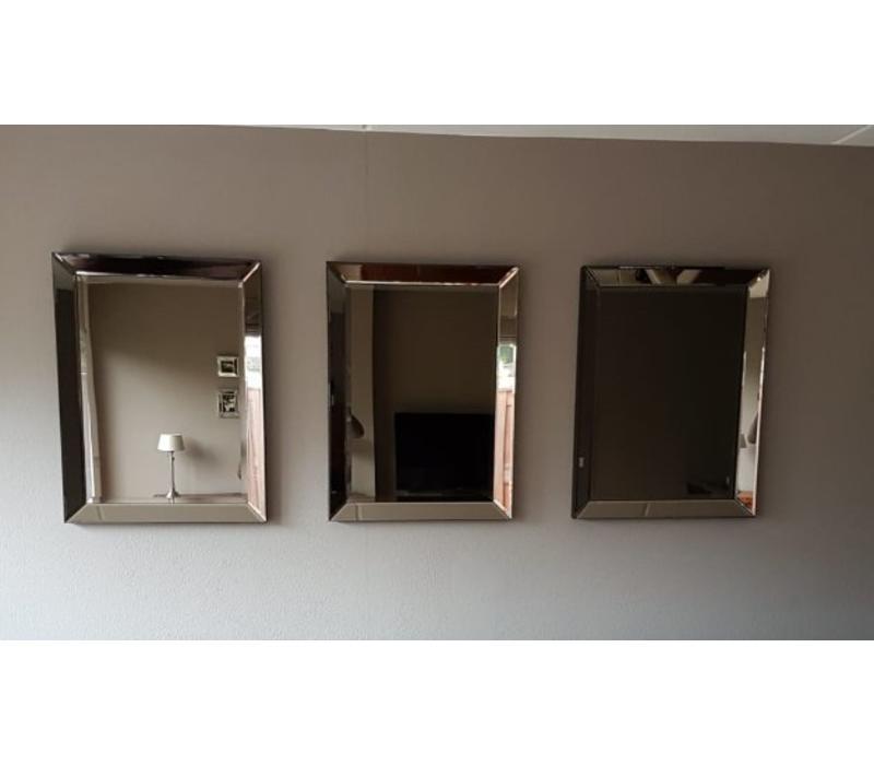 Voordeelset van 3 Spiegels met spiegelrand 60x80 cm - brons - Eric Kuster stijl