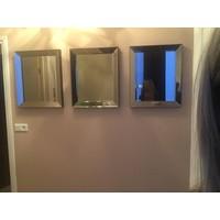 Set van 3 -  Spiegels met spiegelrand 50x60 cm - brons