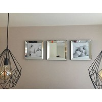 Voordeelset spiegellijsten - 3 fotolijsten zilver 50x50