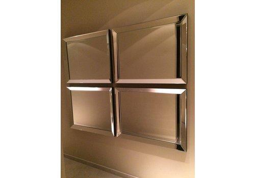 Set van 4 - Spiegels met spiegelrand 70x90