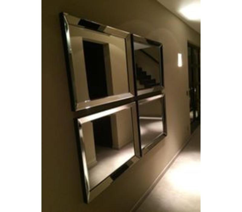 Set van 4 - Spiegels met spiegelrand 70x90 cm