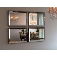 Set van 4 - Spiegels met spiegelrand 60x80 cm