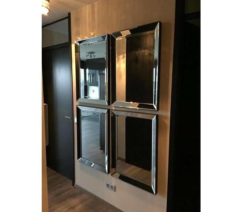 Set van 4 - Spiegels met spiegelrand 60x80 cm  - Copy