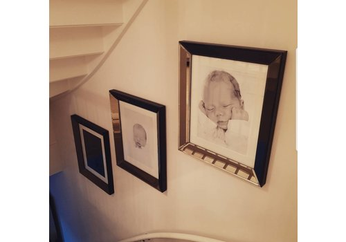 Set van 3 - spiegellijsten fotolijsten 50x60 cm - brons
