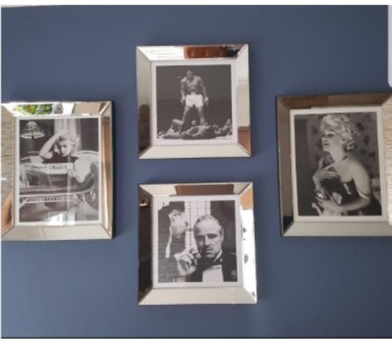 Set van 4 - 2 fotolijsten 50x60 cm -2 fotolijsten 50x50 cm