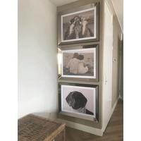 Set 3 fotolijsten 70x90 cm - brons