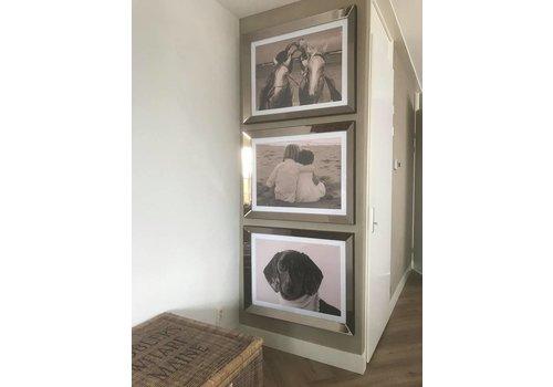 Set van 3 - spiegellijsten fotolijsten 70x90 cm - brons