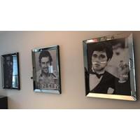 Voordeelset spiegellijsten - 3 fotolijsten zilver 70x90