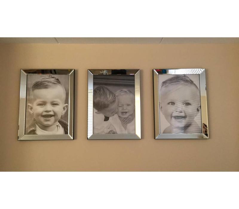 Spiegellijst fotolijst - zilver 60x80