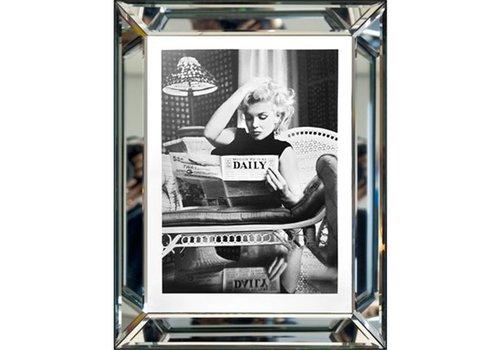 Fotolijst Marilyn Monroe - zilver 70x90 cm