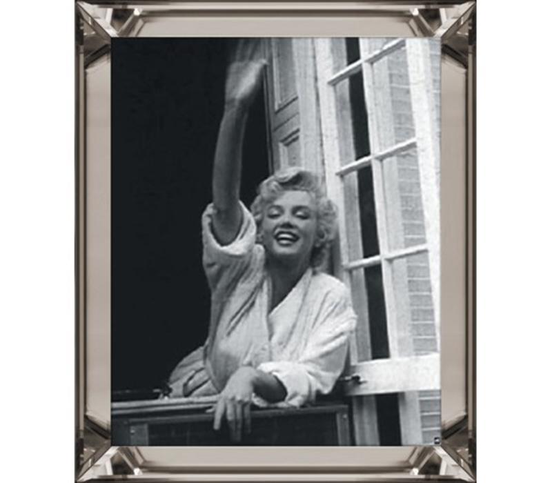 Fotolijst Marilyn Monroe Zwaaiend - brons 50x60