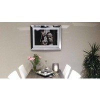 Fotolijst The Godfather whispering  - zilver 70x90