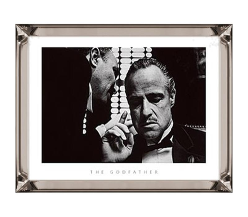 Fotolijst The Godfather whispering  - brons 70x90