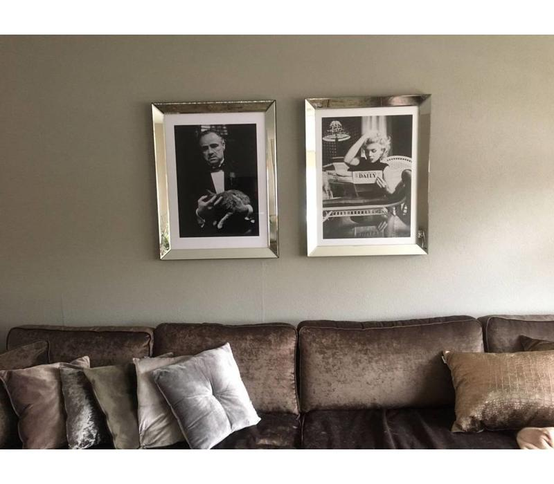 Fotolijst The Godfather The Cat  - zilver 70x90