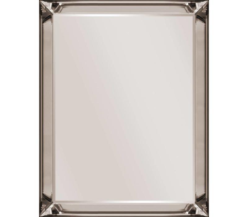 Spiegel met spiegelrand - brons 80x110