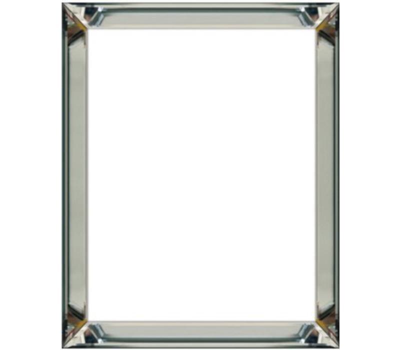 Spiegellijst fotolijst - zilver 50x50