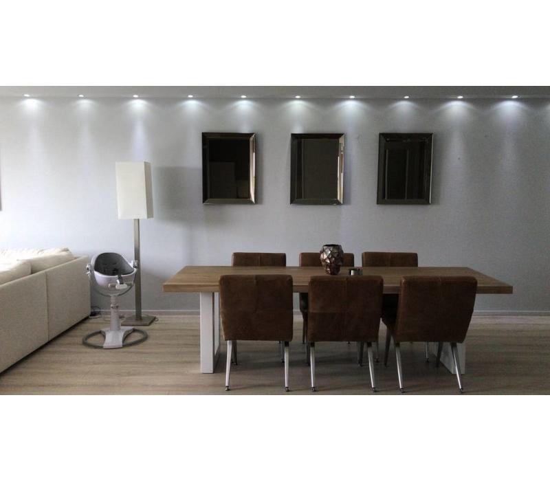 Set van 3 -  Spiegels met spiegelrand 60x80 cm - brons